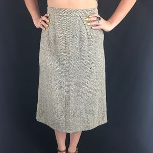 50s Judy 'N Jill Tweed Skirt
